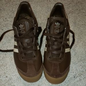 ADIDAS brown Samoa sneakers